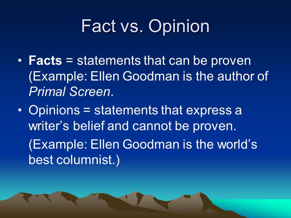 Fact vs.