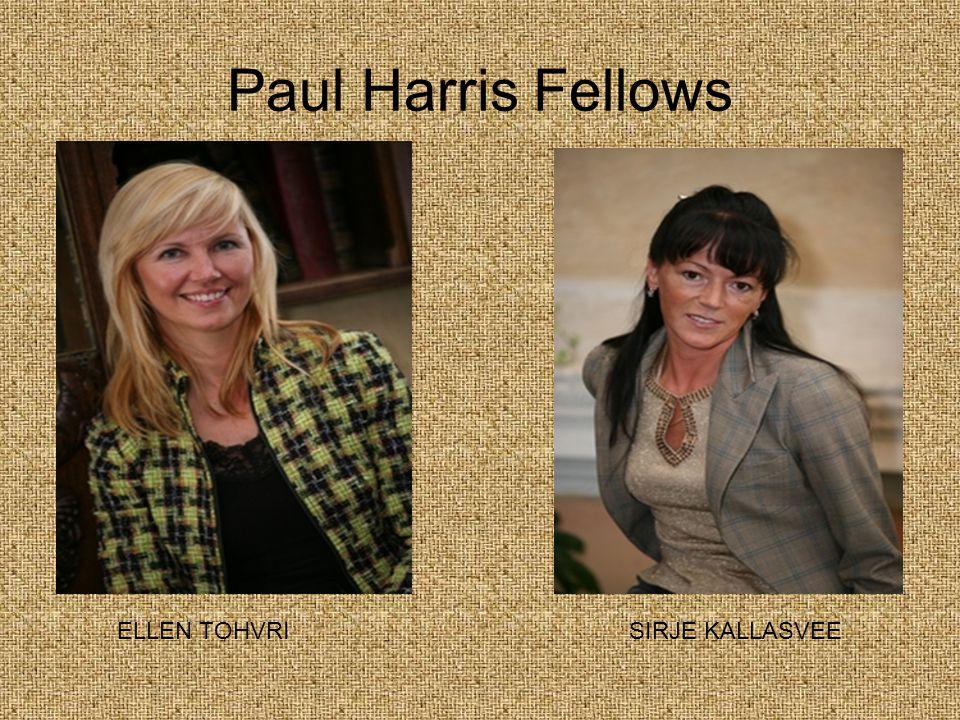 Paul Harris Fellows ELLEN TOHVRI SIRJE KALLASVEE
