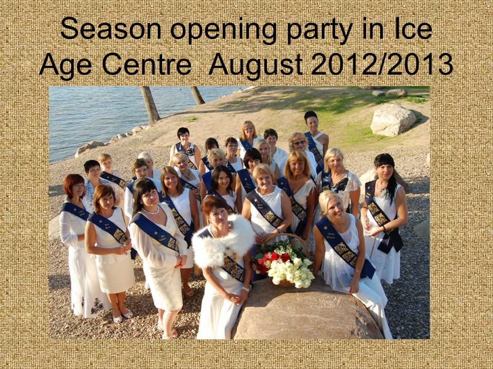 Season opening party in Ice Age Centre August 2012/2013