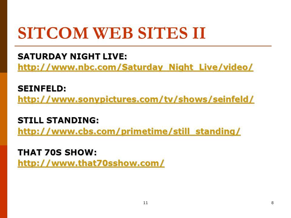 119 !SNIGLET WEB SITE RICH HALL'S SNIGLETS: http://www.ziplink.net/users/wood/fu nny/snigglets.html