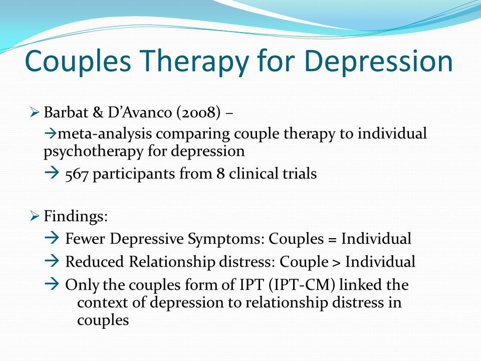 Couples form of IPT: IPT-CM  Foley et al.