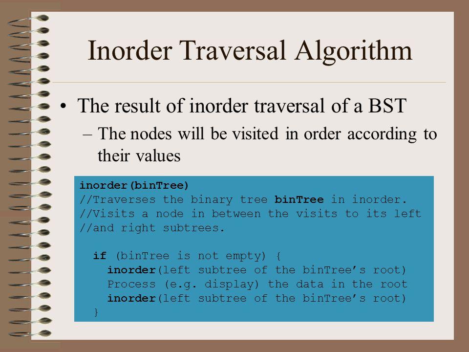 Preorder Traversal Algorithm Postorder generates prefix representations preorder(binTree) //Traverses the binary tree binTree in preorder.