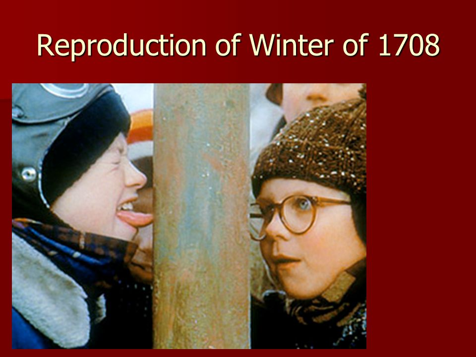 Reproduction of Winter of 1708