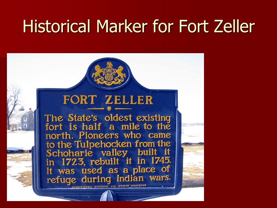 Historical Marker for Fort Zeller