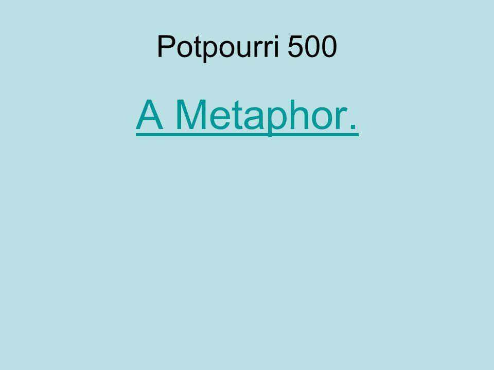 Potpourri 500 A Metaphor.