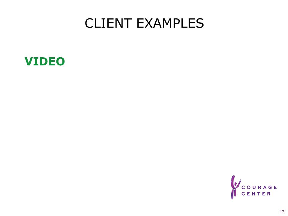 17 CLIENT EXAMPLES VIDEO