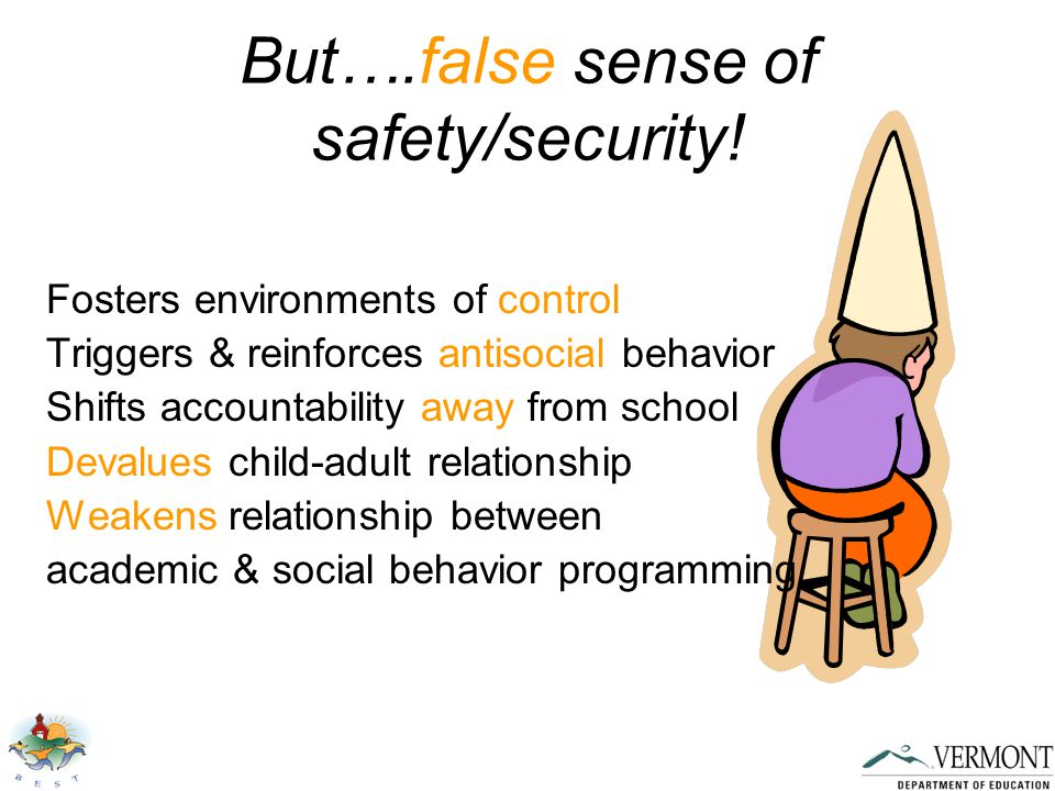 But….false sense of safety/security.
