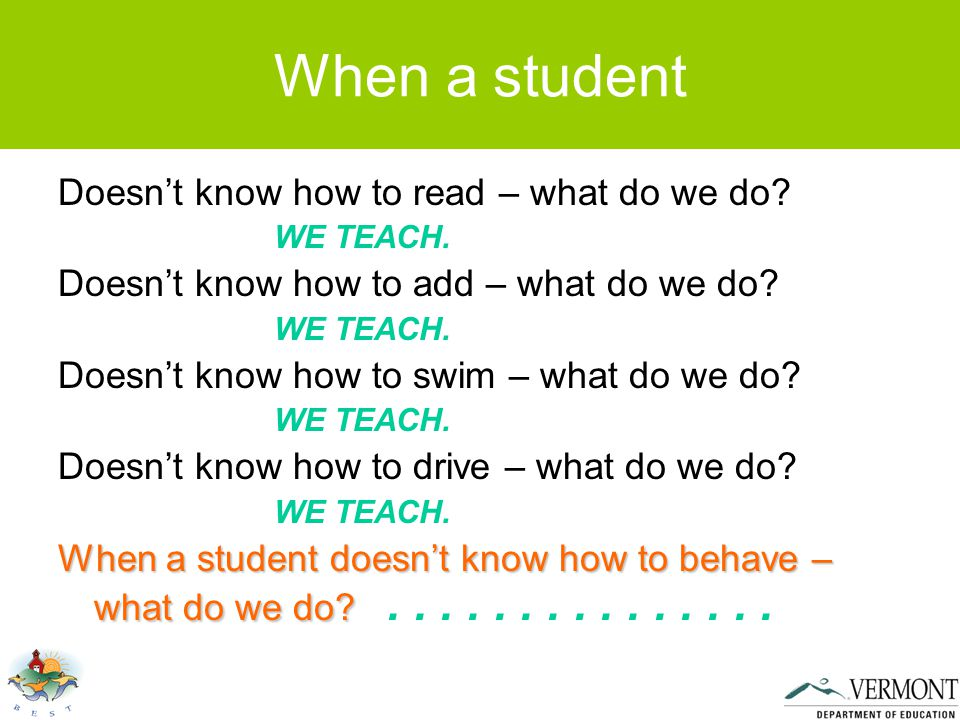 When a student Doesn't know how to read – what do we do.