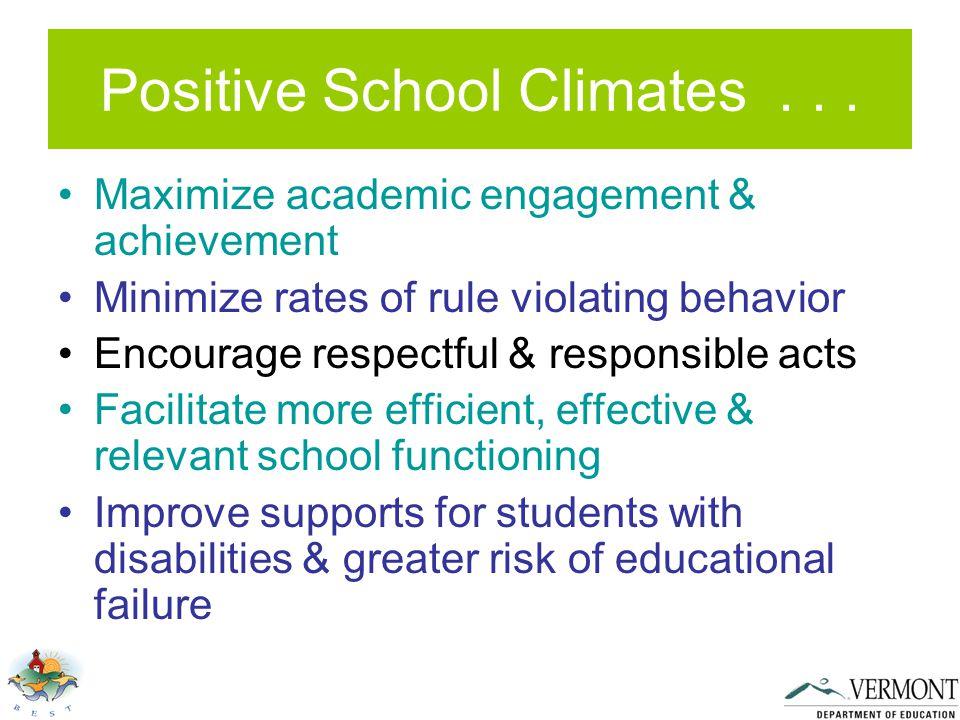 Positive School Climates...