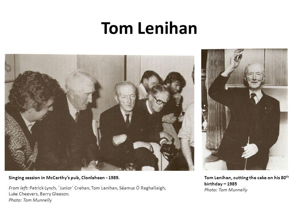 Tom Lenihan Singing session in McCarthy's pub, Clonlaheen - 1989.