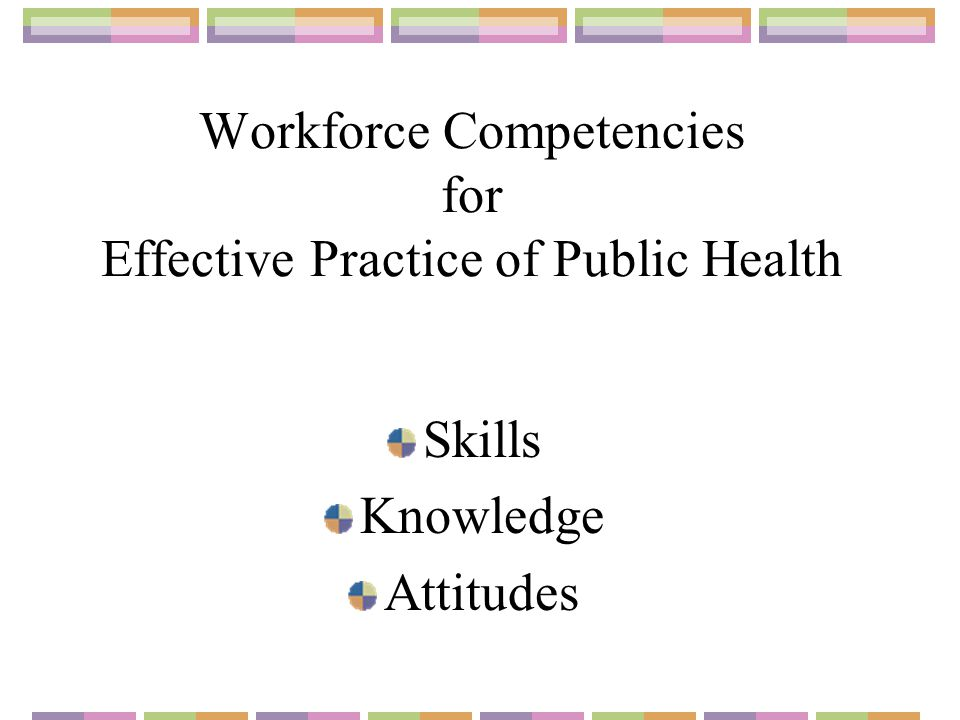 Workforce Competencies for Effective Practice of Public Health Skills Knowledge Attitudes
