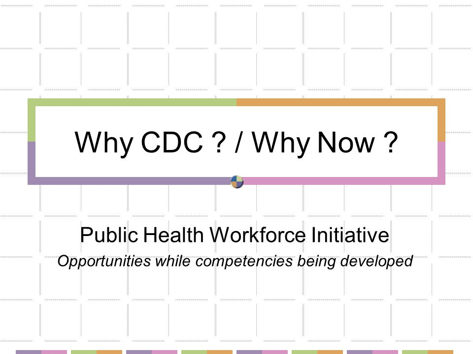 Why CDC . / Why Now .