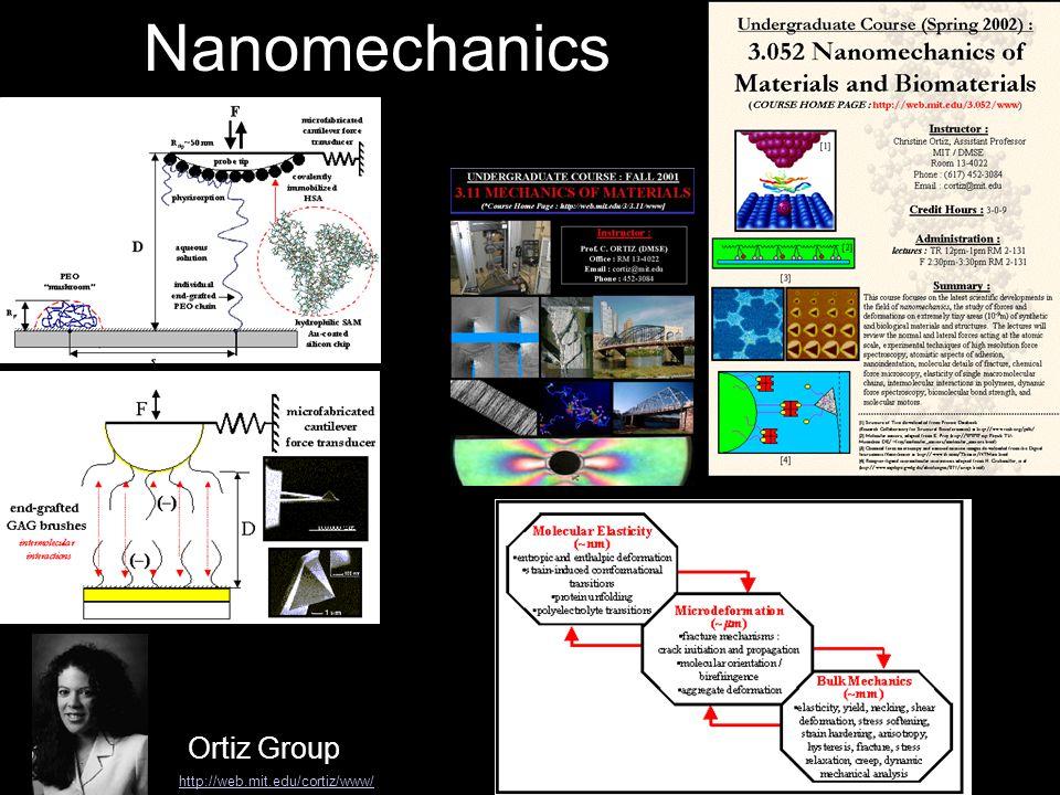 Nanomechanics Ortiz Group http://web.mit.edu/cortiz/www/