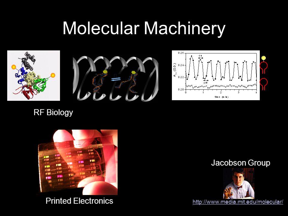 Molecular Machinery Jacobson Group http://www.media.mit.edu/molecular/ RF Biology Printed Electronics