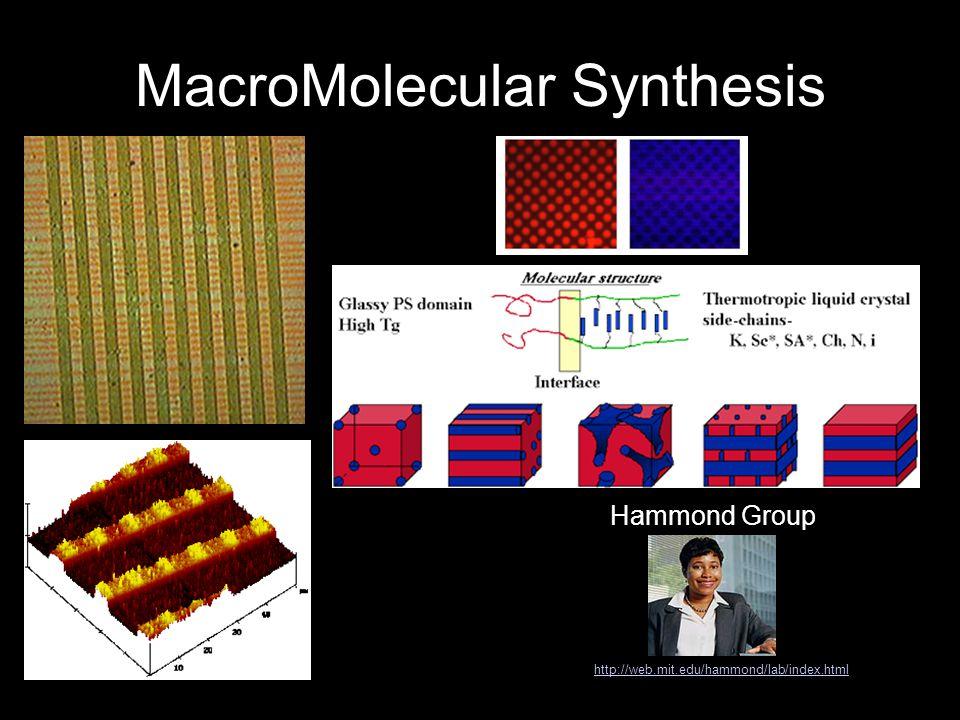 MacroMolecular Synthesis Hammond Group http://web.mit.edu/hammond/lab/index.html