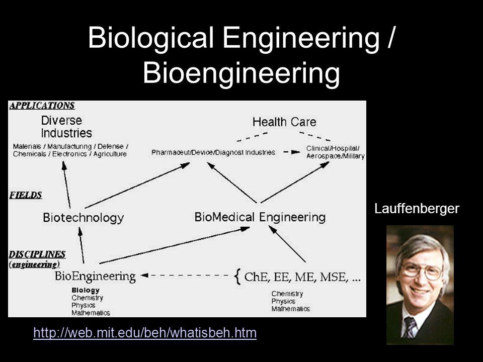 Biological Engineering / Bioengineering http://web.mit.edu/beh/whatisbeh.htm Lauffenberger