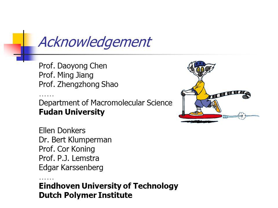 Acknowledgement Prof.Daoyong Chen Prof. Ming Jiang Prof.