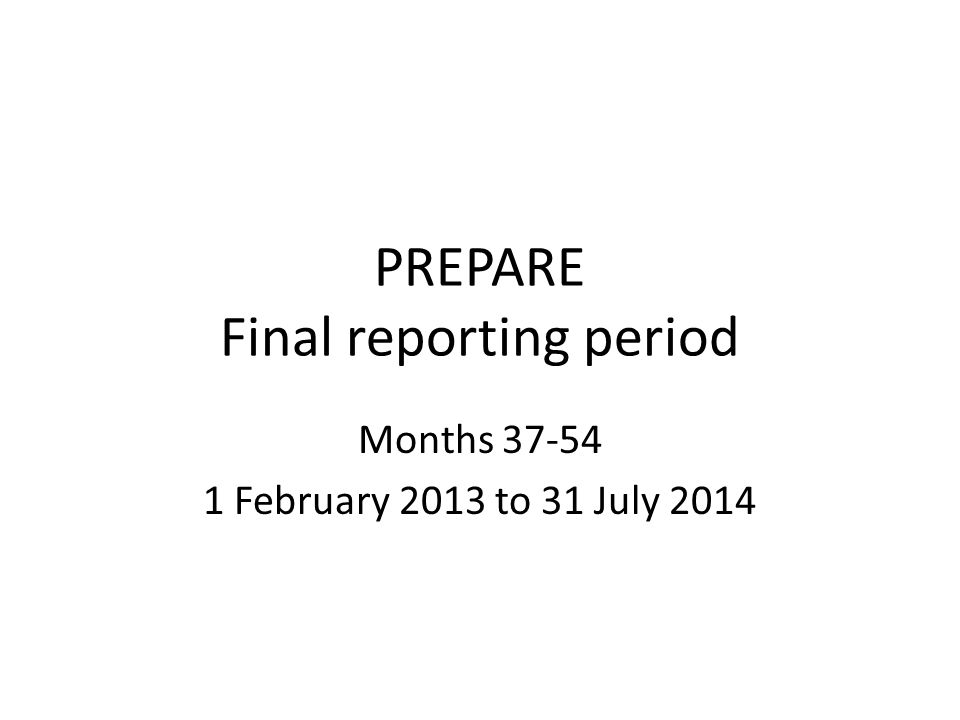 Reporting at the end of month 54 1.Periodic report covering months 37-54 1.a.