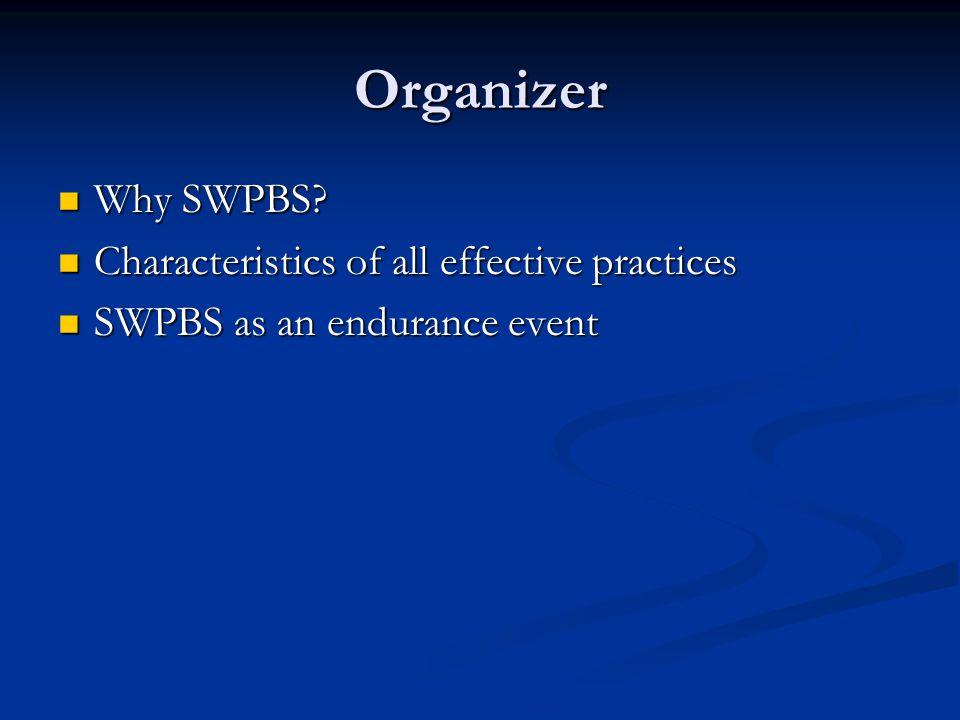 Organizer Why SWPBS.Why SWPBS.