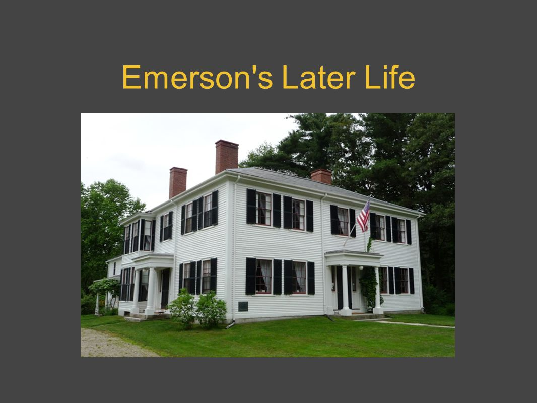 Emerson s Later Life