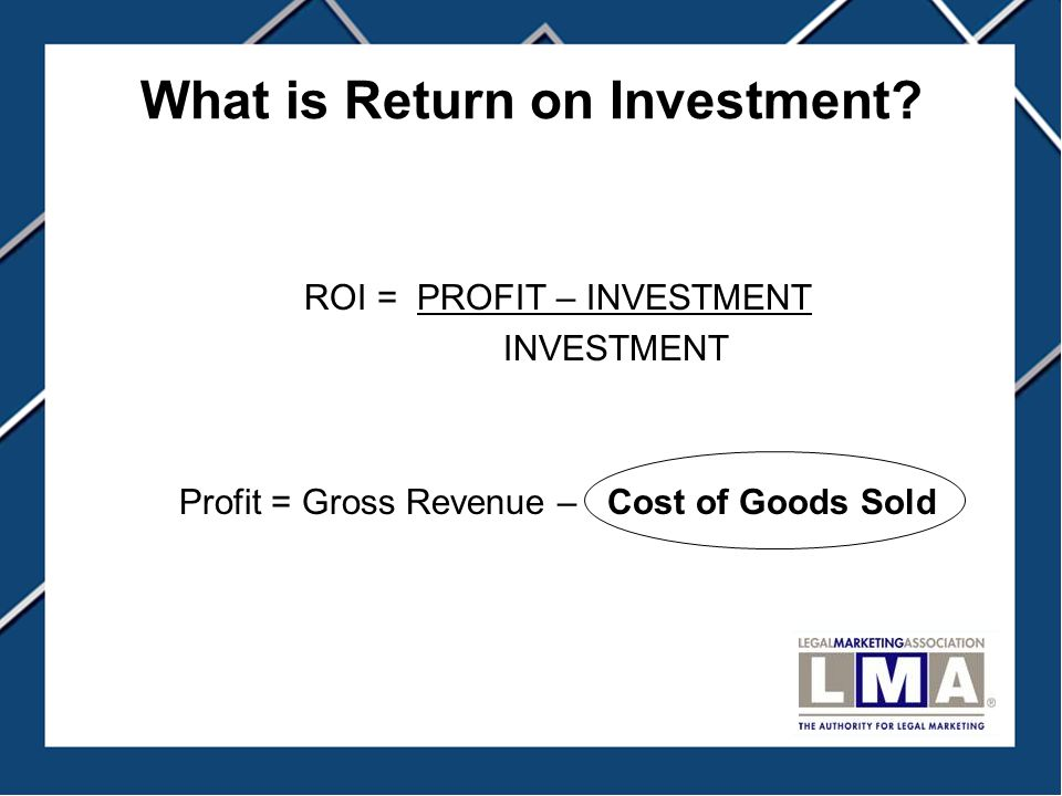 What is Return on Investment.