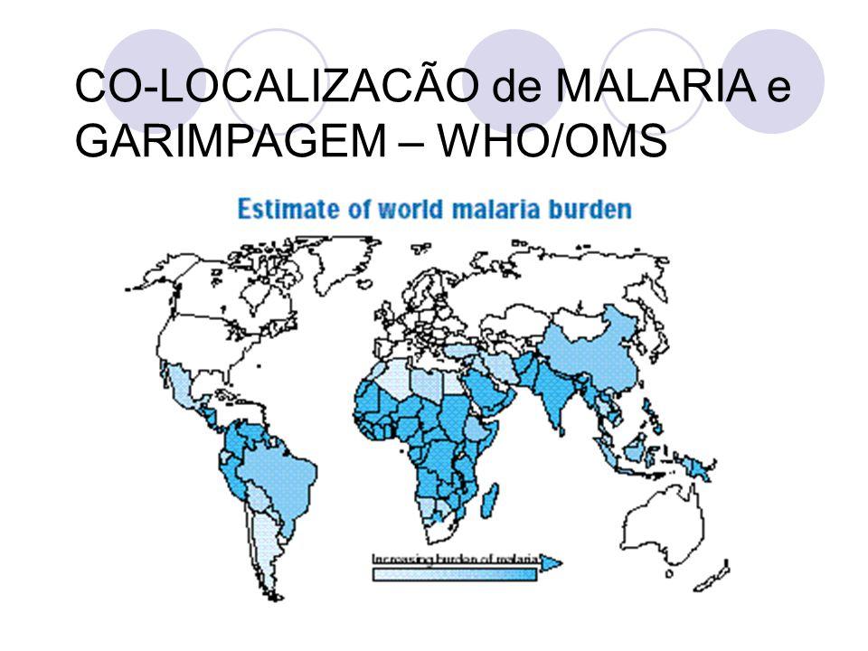 CO-LOCALIZACÃO de MALARIA e GARIMPAGEM – WHO/OMS
