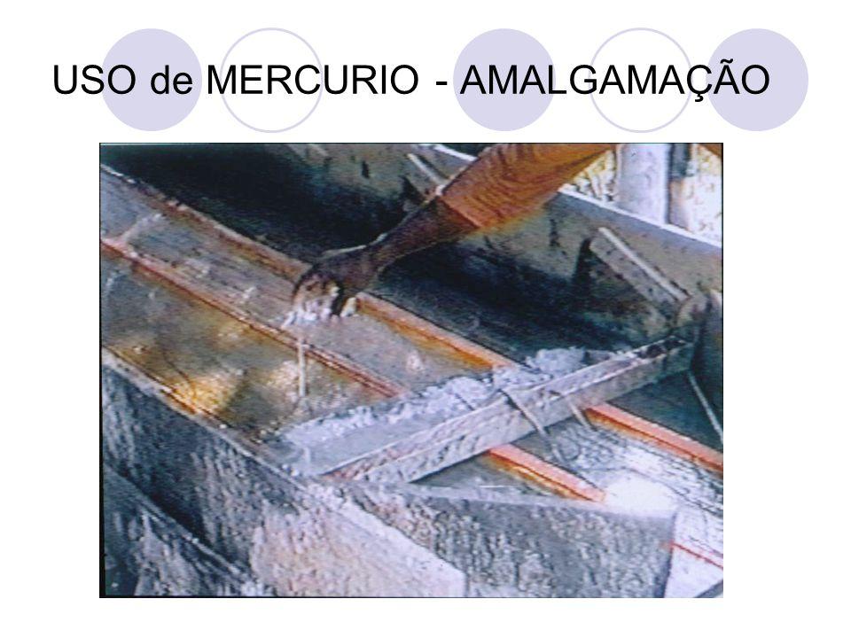 USO de MERCURIO - AMALGAMAÇÃO