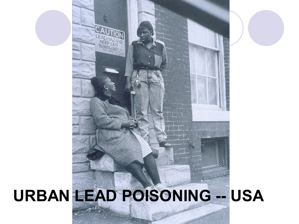 URBAN LEAD POISONING -- USA