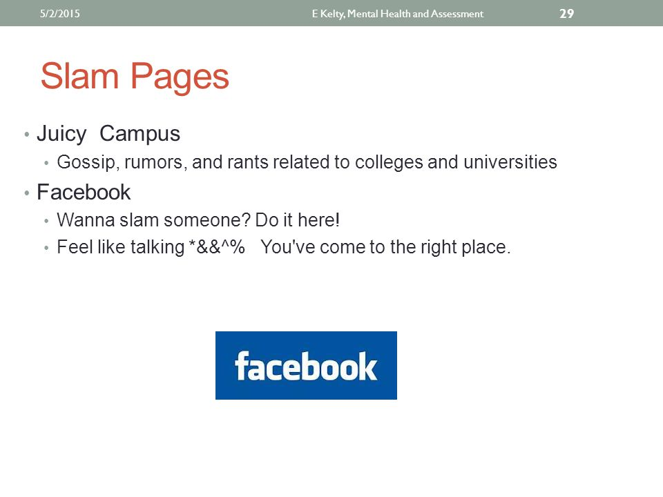 Slam Pages Juicy Campus Gossip, rumors, and rants related to colleges and universities Facebook Wanna slam someone.