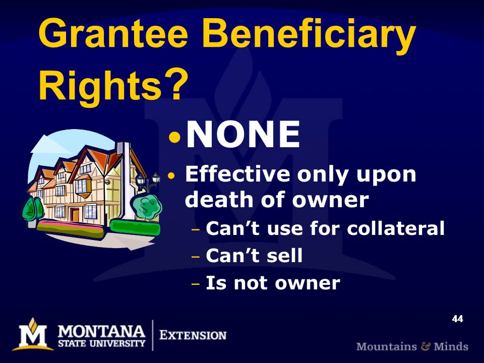 44 Grantee Beneficiary Rights .