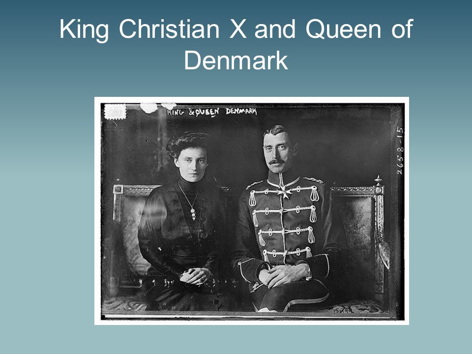 King Christian X and Queen of Denmark