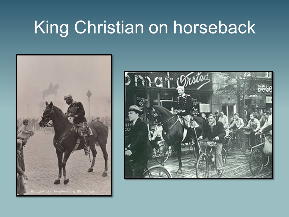 King Christian on horseback