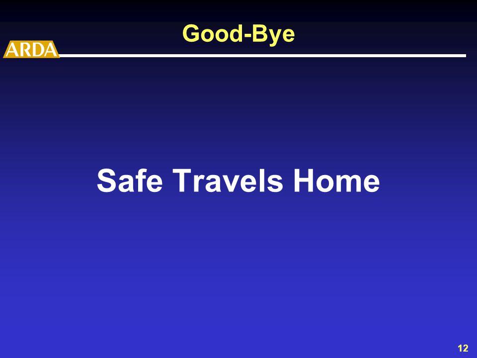 12 Good-Bye Safe Travels Home
