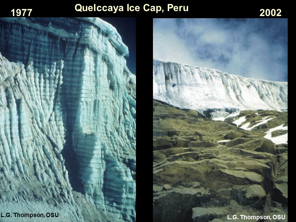 Quelccaya Ice Cap, Peru 19772002 L.G. Thompson, OSU