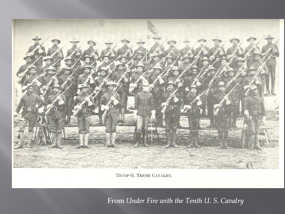 From Under Fire with the Tenth U. S. Cavalry