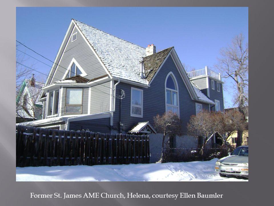 Former St. James AME Church, Helena, courtesy Ellen Baumler