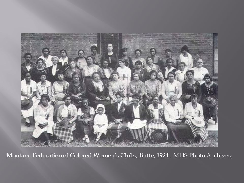 Montana Federation of Colored Women's Clubs, Butte, 1924. MHS Photo Archives