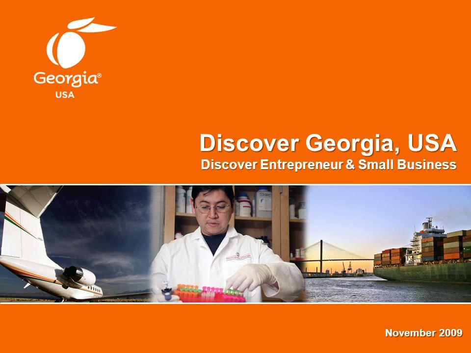 Discover Georgia, USA Discover Entrepreneur & Small Business November 2009