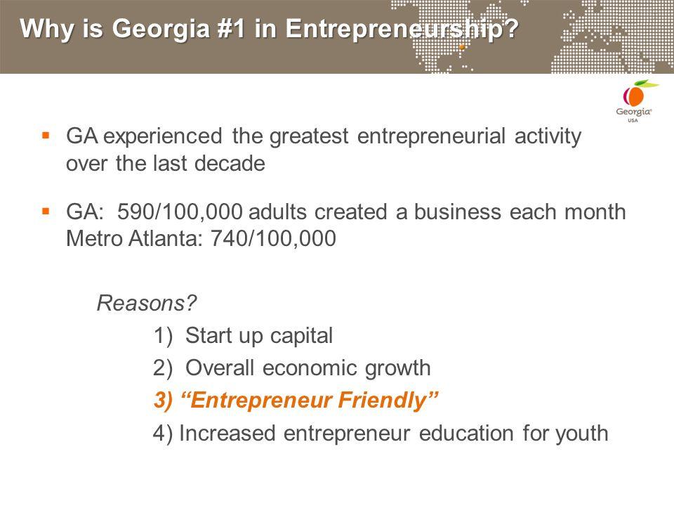 Why is Georgia #1 in Entrepreneurship.