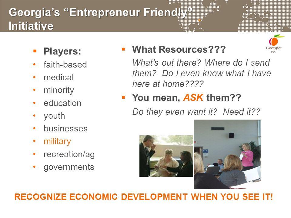 Georgia's Entrepreneur Friendly Initiative  What Resources??.