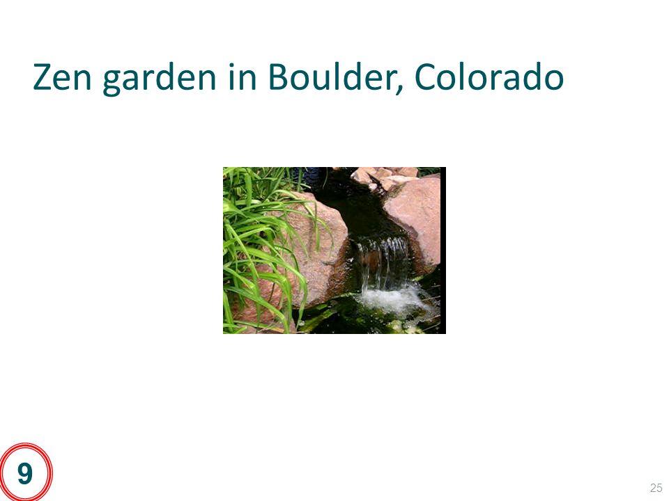 Zen garden in Boulder, Colorado 25 9