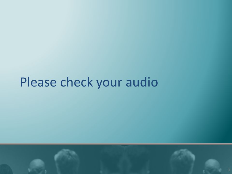 Please check your audio 3