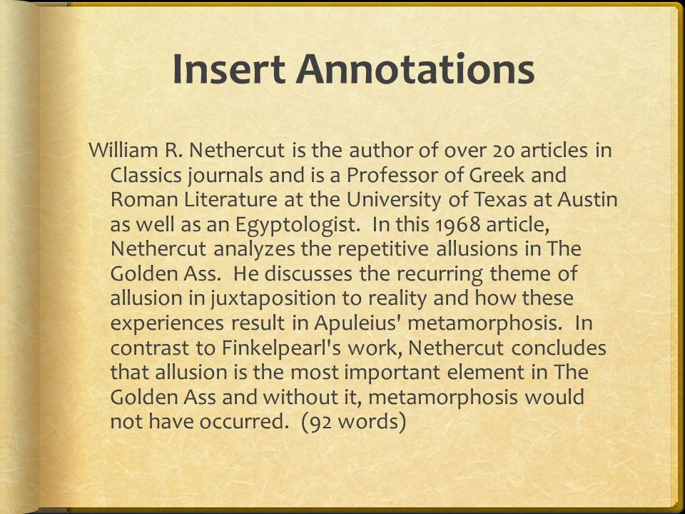 Insert Annotations William R.