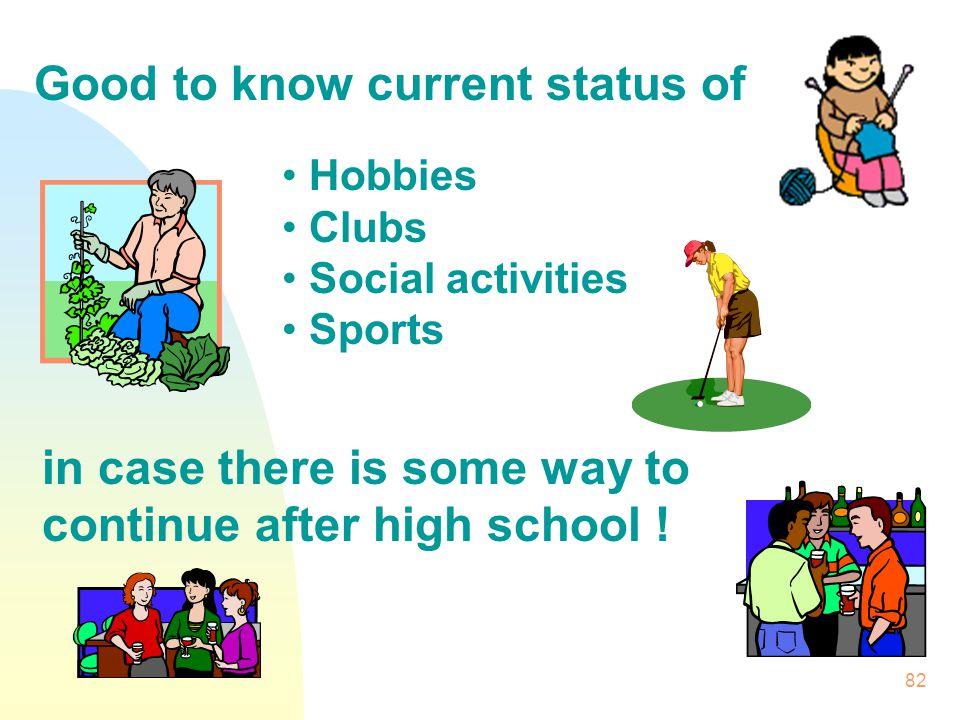 83 Community Based Instruction Recreation facilities (YMCA, etc.) Social skills Sports