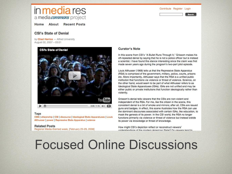 Focused Online Discussions