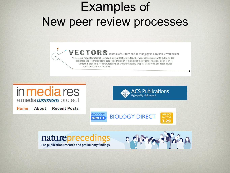 Online manuscript submission & peer review