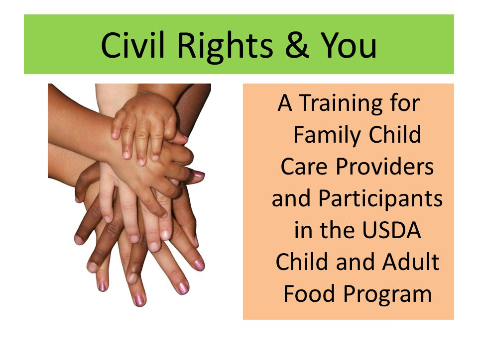 Civil rights training ensures that you… Understand the laws regarding civil rights; Understand that you are able to follow the civil rights laws; Are able to identify a civil rights complaint and know what to do if one is received; Understand that it is the basic right of the individual to file a complaint; Receive training on all areas of civil rights compliance.