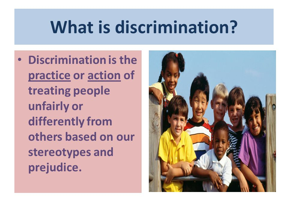 7 TYPES OF DISCRIMINATION Disparate treatment Occurs when someone in a protected class is treated differently than others.