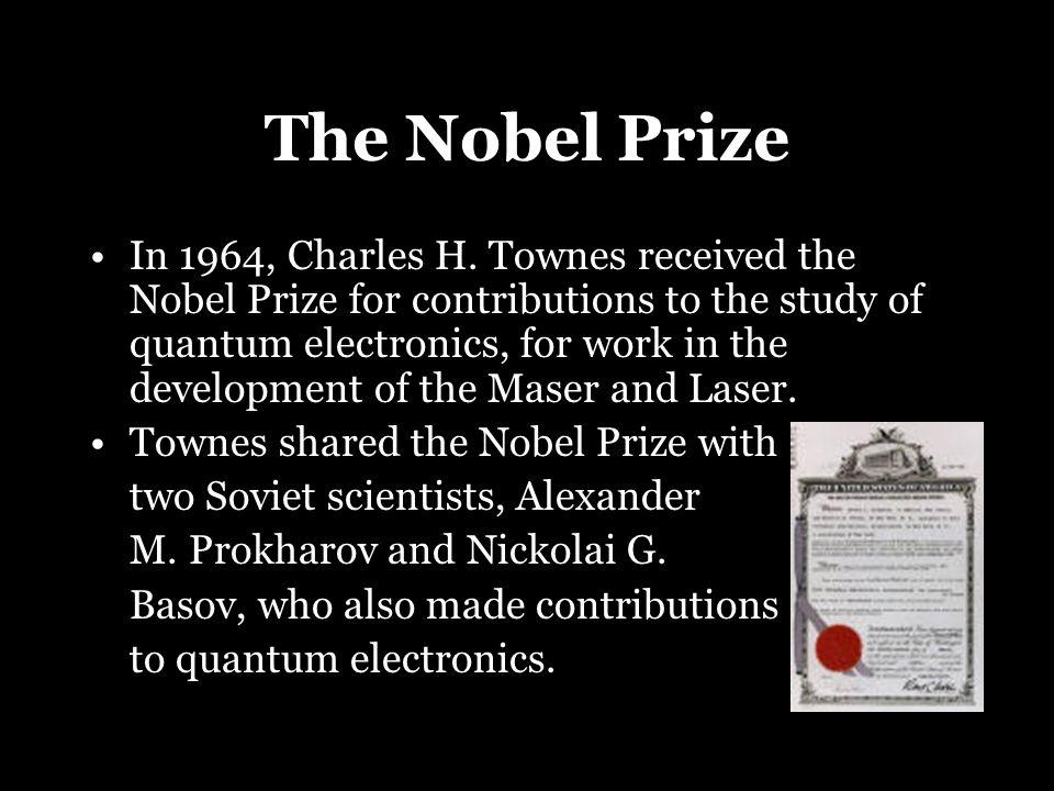 The Nobel Prize In 1964, Charles H.
