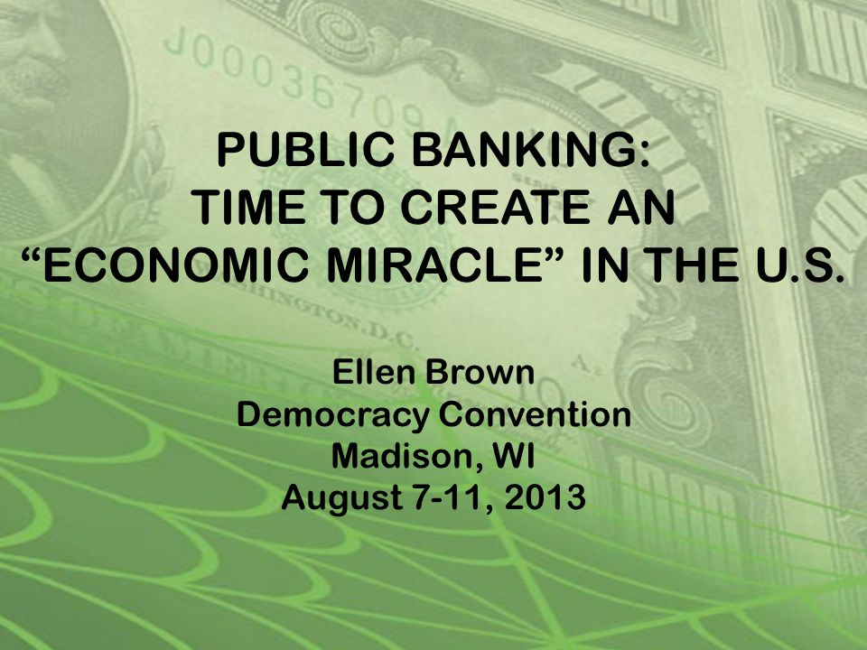 The U.S. public banking movement 20 states have introduced bills for publicly-owned banks.